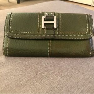 Fossil army green clutch wallet